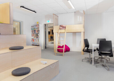 Interiör, lärstudio - fotograf: Johan Alfredsson, Kinnarps