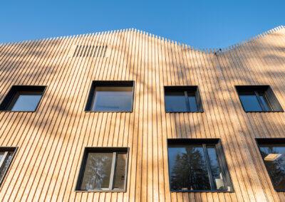 Exteriör, detalj fasad - fotograf: Mattias Hamrén