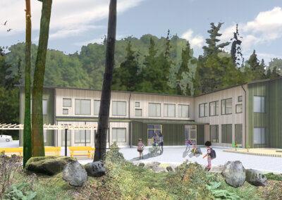 Boängens förskola, Knivsta - Rendering: Comarc Arkitekter