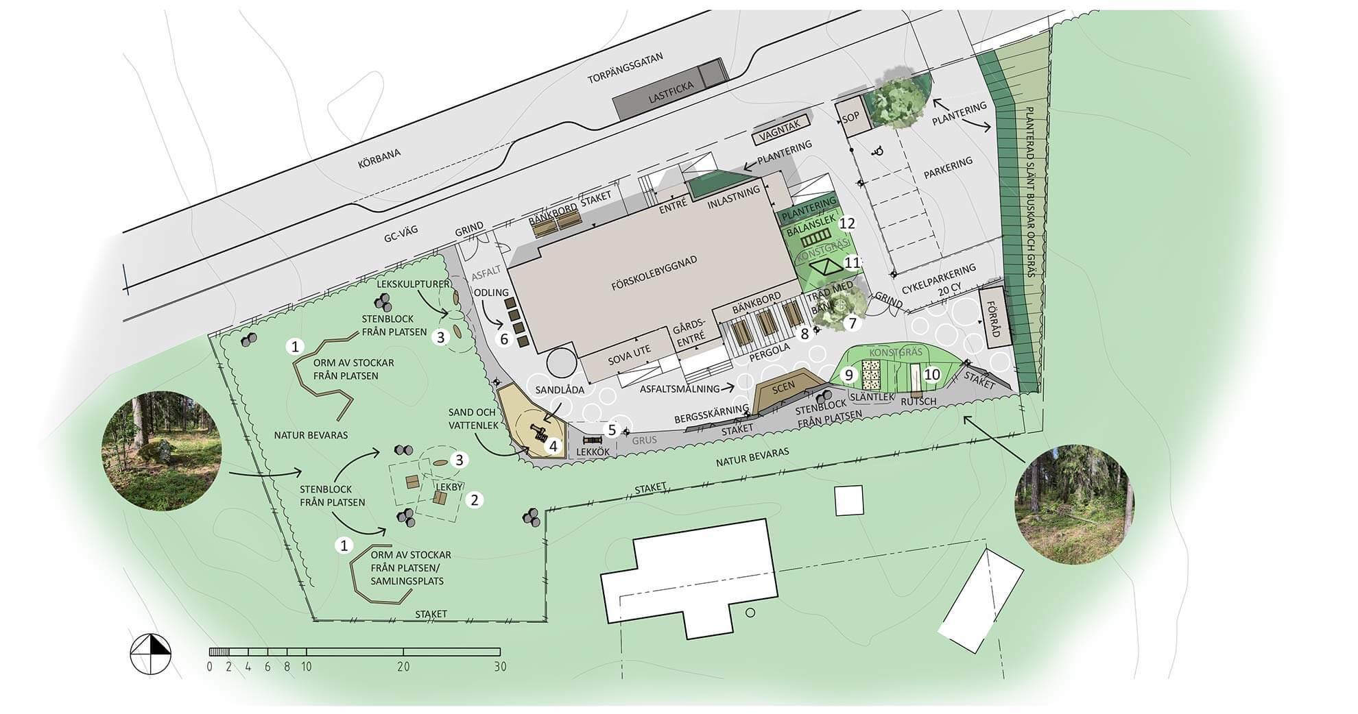 Ängby, Knivsta: Illustrationsplan förskola